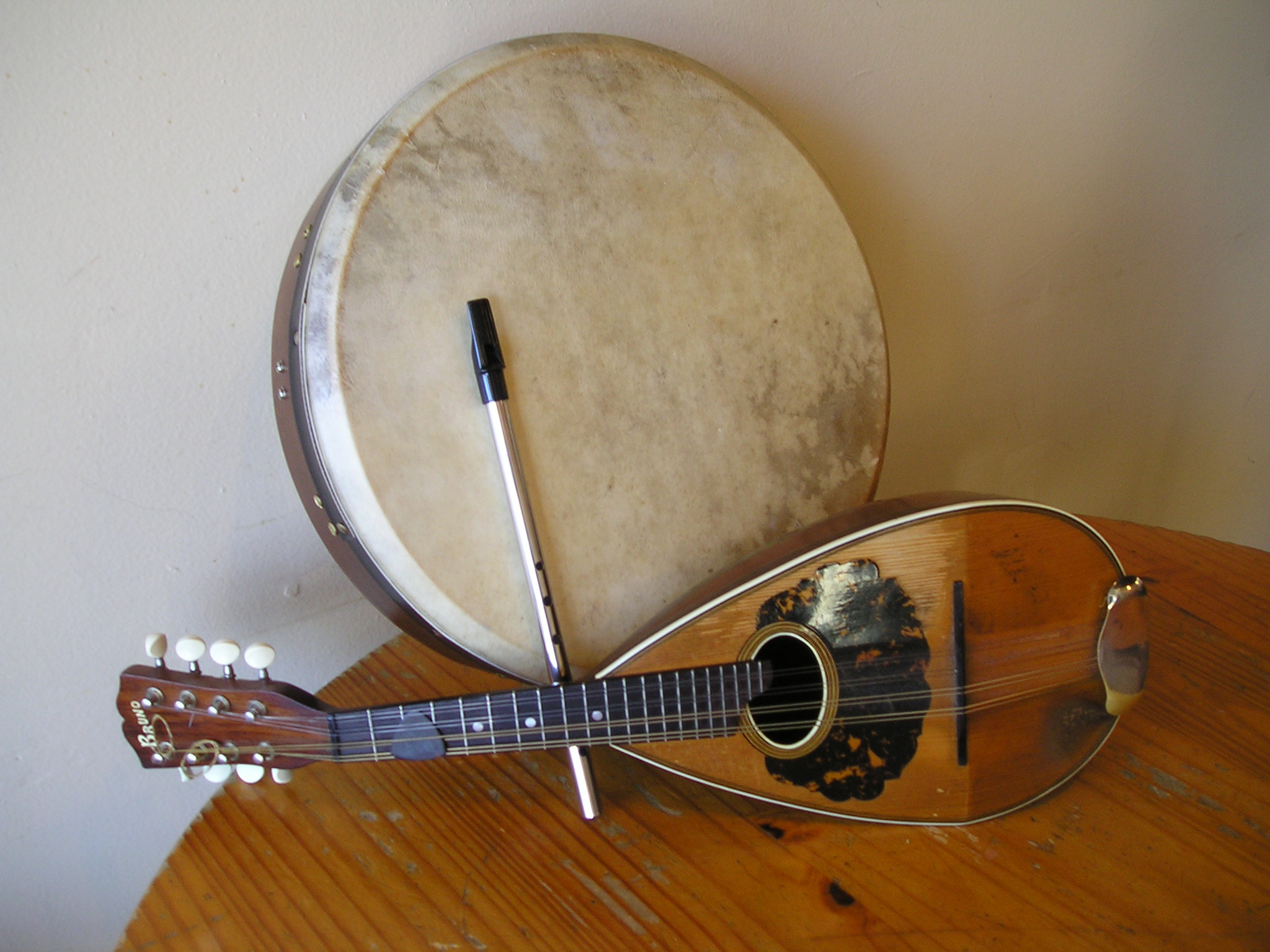 Bodhran, Mandolin, and Penny Whistle